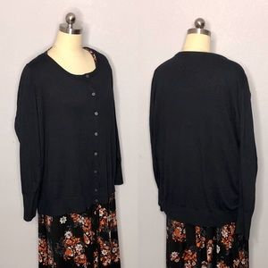 Lane Bryant 26/28 Black Knit Cardigan